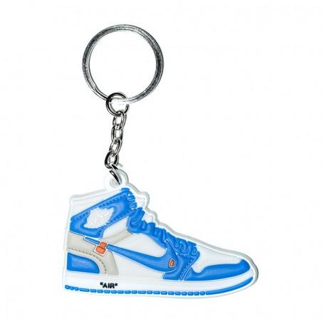 Porte-Clés Silicone Air Jordan 1 x Off White University Blue | La Sneakerie