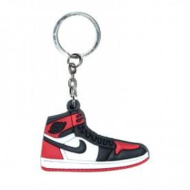 906390c890 Air Jordan 1 Bred Toe Silicone Keychain