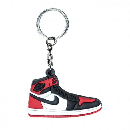 Porte-Clés Silicone Air Jordan 1 Bred Toe | La Sneakerie