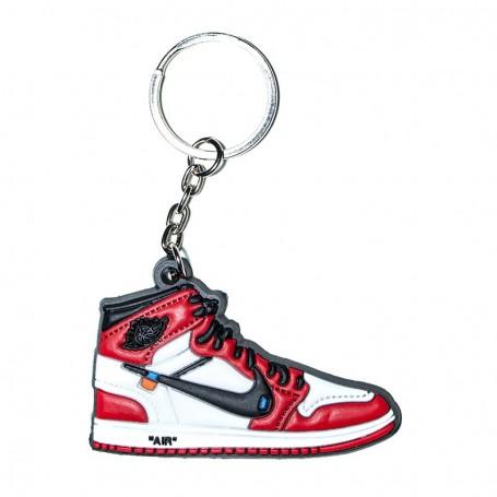 Porte-Clés Silicone Air Jordan 1 x Off White Chicago   La Sneakerie