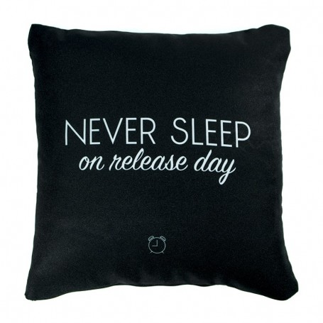 NEVER SLEEP On Release Day Cushion   La Sneakerie