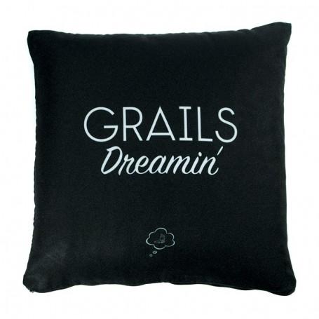 Coussin «GRAILS Dreamin'» Noir - LA SNEAKERIE