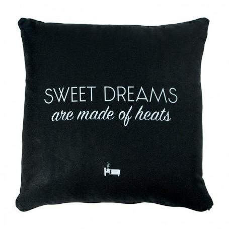 Coussin «SWEET DREAMS are made of heats» Noir - LA SNEAKERIE