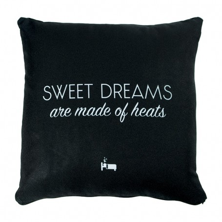 «SWEET DREAMS are made of heats» Cushion Black - LA SNEAKERIE