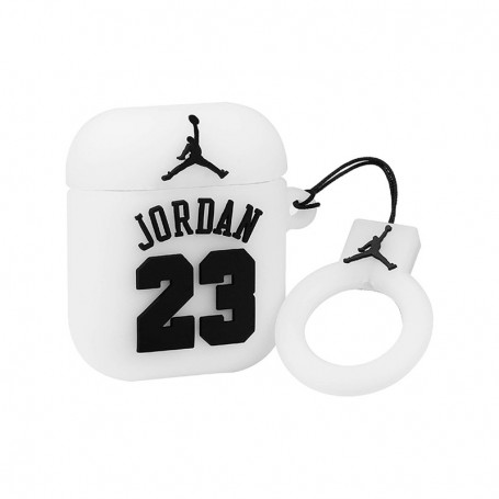 """Jordan 23"" AirPods Case White - LA SNEAKERIE"