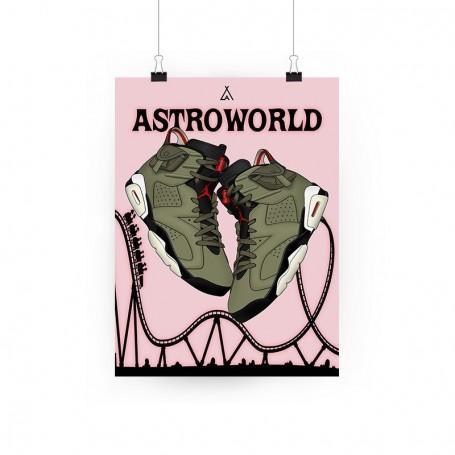 Air Jordan 6 x Travis Scott Poster | La Sneakerie