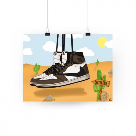 Poster Air Jordan 1 x Travis Scott | La Sneakerie