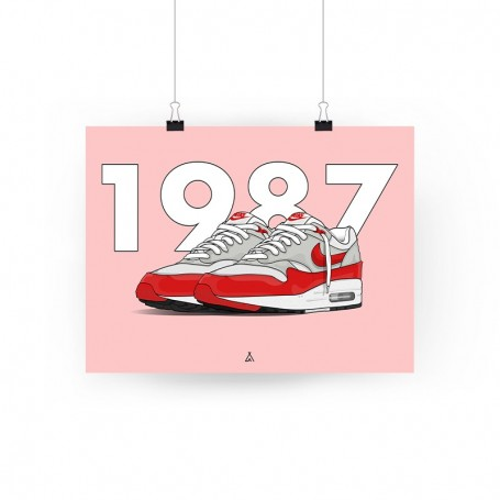 Poster Air Max 1 OG Red | La Sneakerie