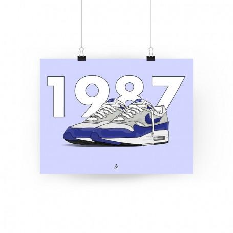 Air Max 1 OG Blue Poster   La Sneakerie