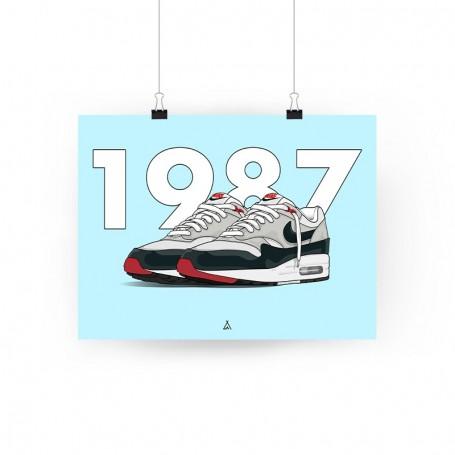 Air Max 1 Obsidian Poster | La Sneakerie