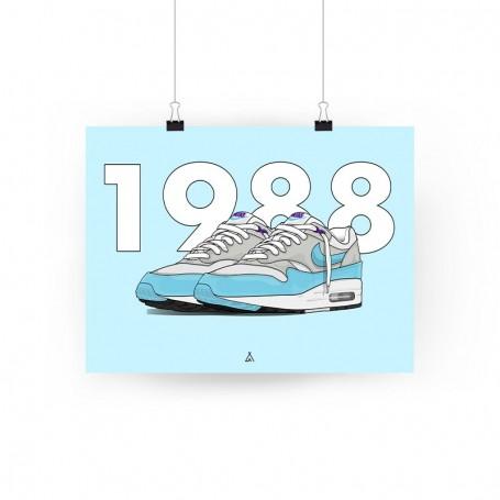 Poster Air Max 1 Aqua | La Sneakerie