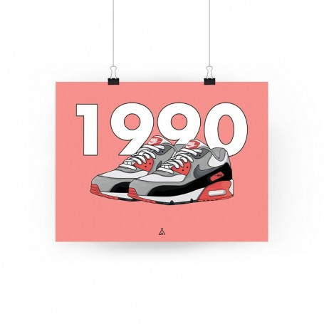 Air Max 90 Infrared Poster | La Sneakerie
