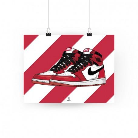 Air Jordan 1 Chicago Poster   La Sneakerie