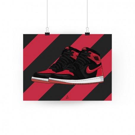 Air Jordan 1 Banned Poster | La Sneakerie