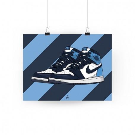 Poster Air Jordan 1 Obsidian Unc | La Sneakerie