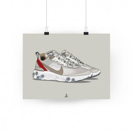 React Element 87 Sail Poster   La Sneakerie