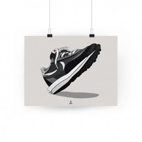 Sacai LD Waffle Black Poster   La Sneakerie