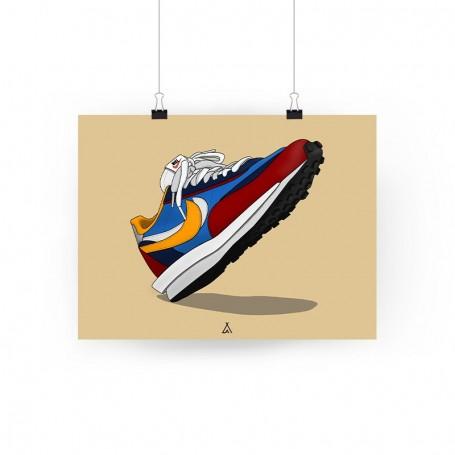 Poster Sacai LD Waffle Blue multi | La Sneakerie