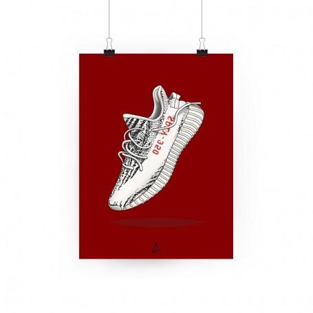 Yeezy Boost 350 V2 Zebra Poster | La Sneakerie