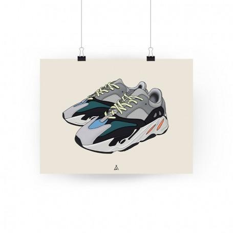 Poster Yeezy Boost 700 Wave Runner | La Sneakerie