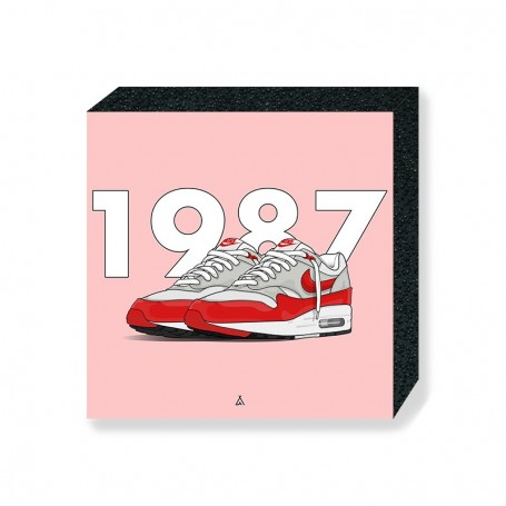 Air Max 1 OG Red Square Print | La Sneakerie