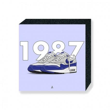 Bloc Mural Air Max 1 OG Blue | La Sneakerie