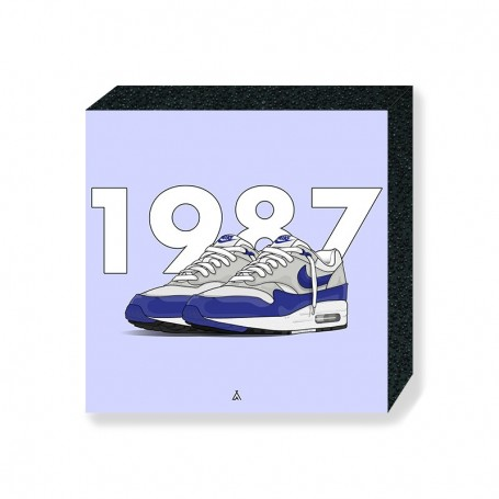 Wandbild Bloc Air Max 1 OG Blue | La Sneakerie