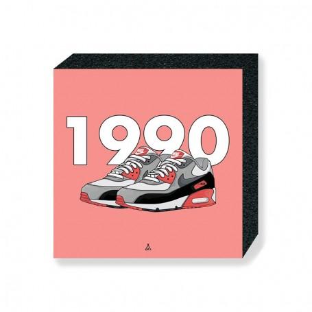Air Max 90 Infrared Square Print | La Sneakerie