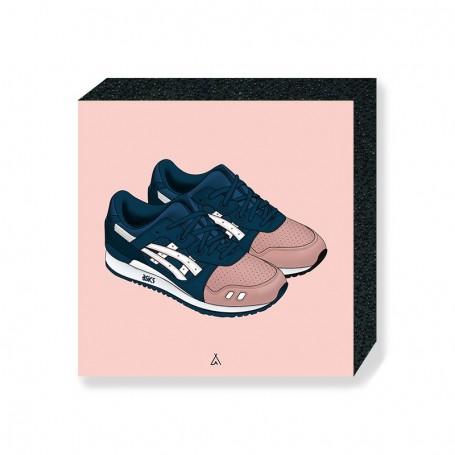 Asics Gel-Lyte III Ronnie Fieg Salmon Toes Square Print | La Sneakerie