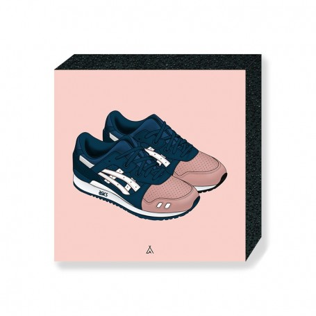 Bloc Mural Asics Gel-Lyte III Ronnie Fieg Salmon Toes | La Sneakerie