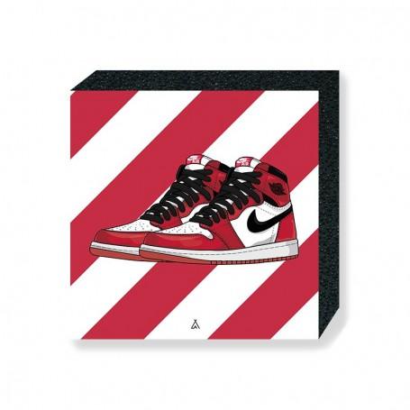 Air Jordan 1 Chicago Square Print | La Sneakerie