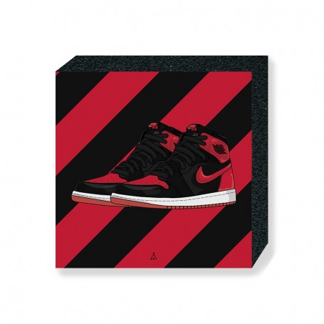 Bloc Mural Air Jordan 1 Banned | La Sneakerie