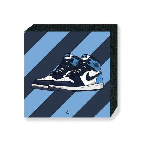Wandbild Bloc Air Jordan 1 Obsidian UNC   La Sneakerie