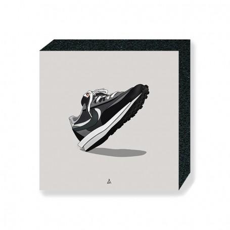 Bloc Mural Sacai LD Waffle Black | La Sneakerie