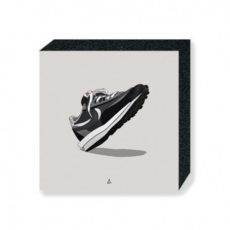 LD Waffle Black Sacai Square Print | La Sneakerie