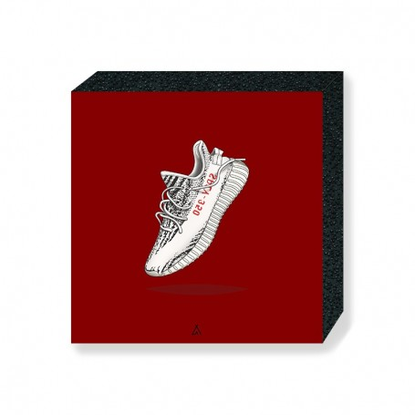 Wandbild Bloc Yeezy Boost 350 V2 Zebra | La Sneakerie