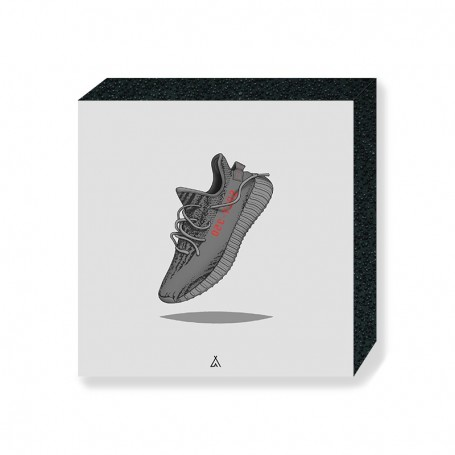 Wandbild Bloc Yeezy Boost 350 V2 Beluga   La Sneakerie