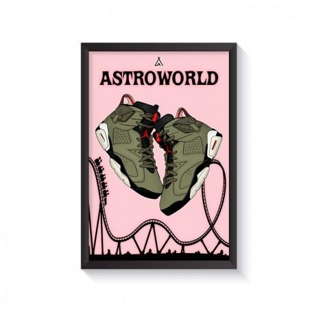 Cadre Air Jordan 6 x Travis Scott | La Sneakerie