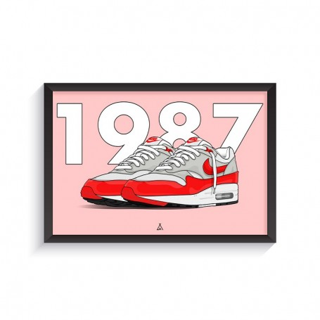 Air Max 1 OG Red Frame | La Sneakerie