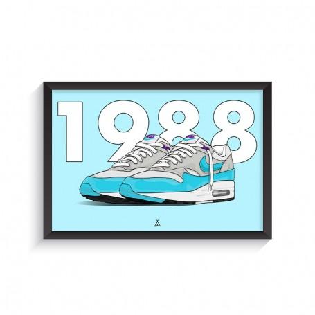 Cadre Air Max 1 Aqua | La Sneakerie