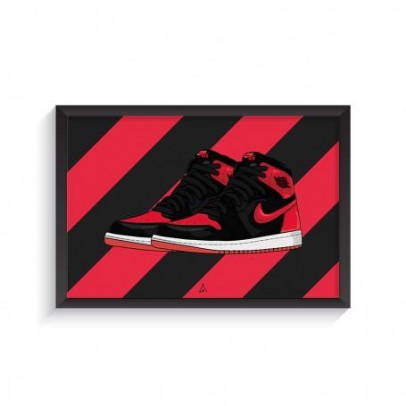 Air Jordan 1 Banned Frame   La Sneakerie