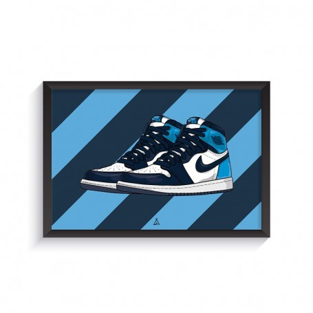 Air Jordan 1 Obsidian UNC Frame | La Sneakerie