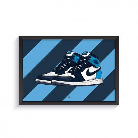 Cadre Air Jordan 1 Obsidian UNC | La Sneakerie