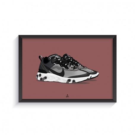 Cadre React Element 87 Anthracite Black | La Sneakerie