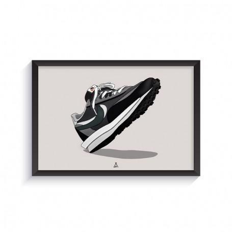 Sacai LD Waffle Black Frame | La Sneakerie