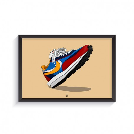 Sacai LD Waffle Blue Multi Frame   La Sneakerie