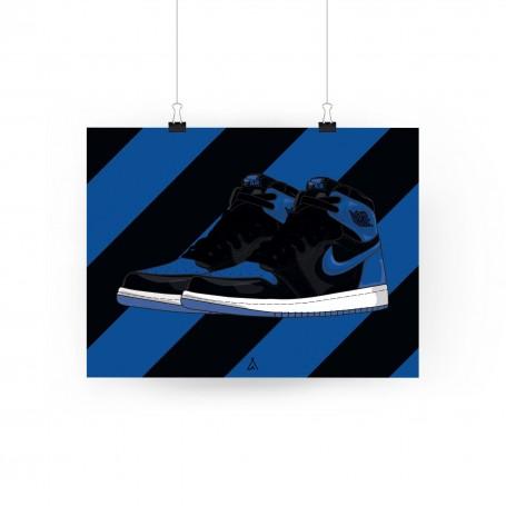 Air Jordan 1 Royal Poster | La Sneakerie