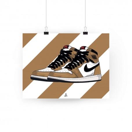 Poster Air Jordan 1 Rookie of the year | La Sneakerie