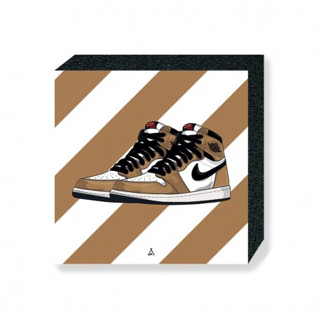 Air Jordan 1 Rookie Of The Year Square Print | La Sneakerie