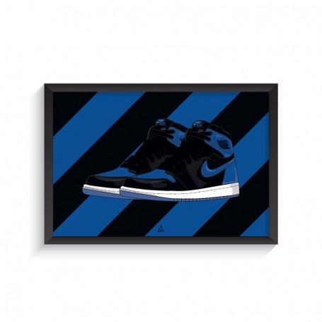 Rahmen Air Jordan 1 Royal | La Sneakerie